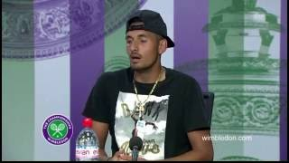 Wimbledon 2016: Nick Kyrgios interview after his game vs. Andy Murray [engl]