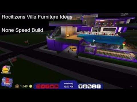Roblox Rocitizens Villa Furniture Ideas ( None Speed Build