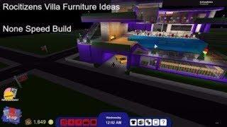 Roblox Rocitizens Villa meubles Idées ( None Speed Build ) !!!