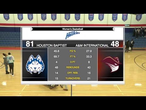 HBU Women's Basketball vs Texas A&M International DustDevils 2018-11-14