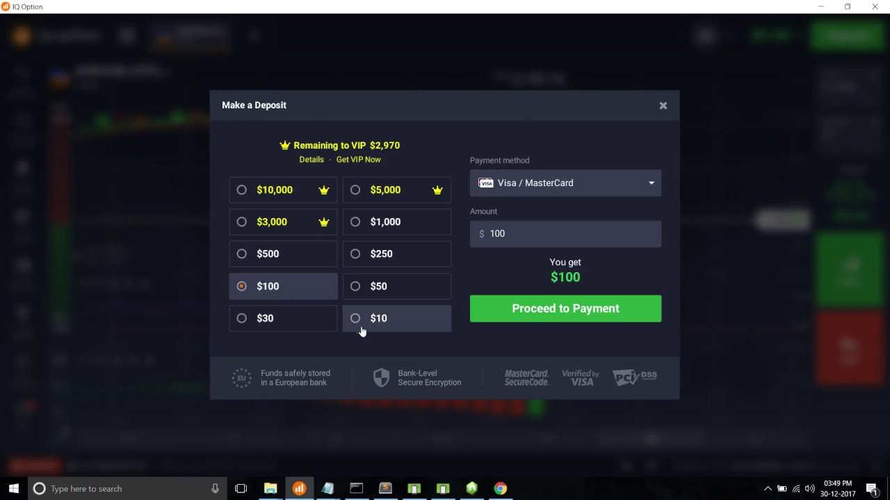 How to deposit money in IQ option using bitcoin when visa / master card not work or don't want