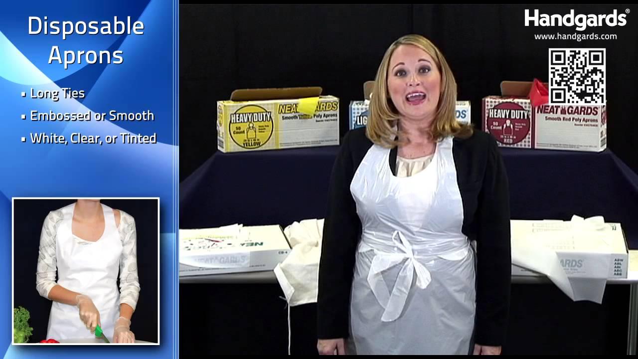 White disposable apron - Handgards Disposable Aprons Bibs
