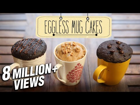 How To Make Eggless Mug Cakes | 2 Minute Microwave Mug Cakes | Beat Batter Bake With Priyanka