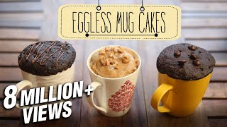 Eggless Mug Cakes | 2 Minute Microwave Mug Cakes | Beat Batter Bake With Priyanka
