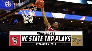 NC State Basketball Top Plays vs. Wake Forest (2019-20) | Stadium