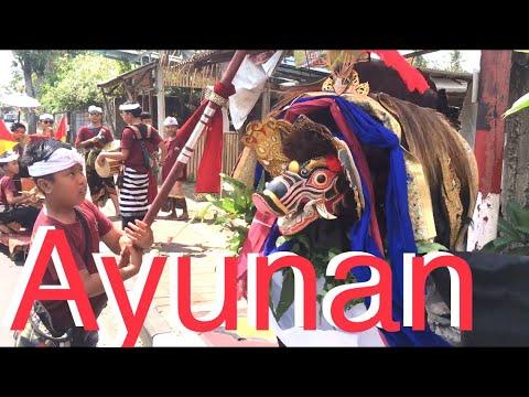 Barong Bangkung Galak Lintas Desa , Anak Anak Banjar Gria Ayunan ABG