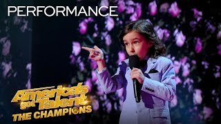 OMG! 7-Year-Old JJ Pantano ROASTS The AGT: Champions Judges! - America's