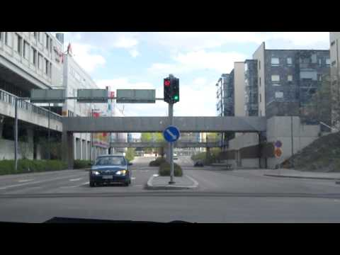 Lappeenranta city center sightseeingdrive, Finland.MOV
