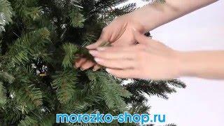 видео Ёлка искусственная литая хвоя