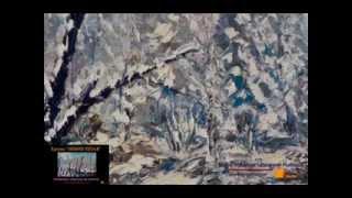 Зимний пейзаж - картина зимнего пейзажа маслом. Холст.