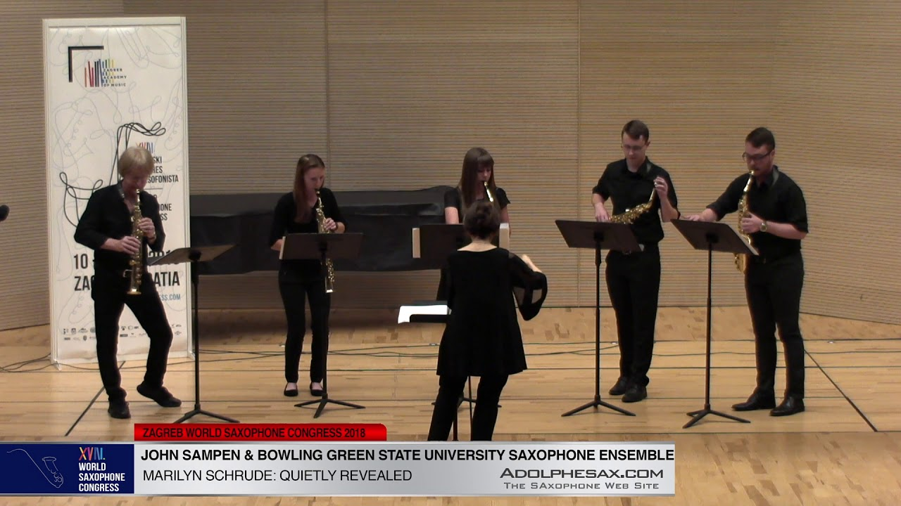Quietly Revealed by M. Schrude - J. Sampen & Bowling Green State Univ Ensemble -XVIII WSC2018