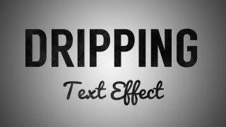Dripping Text Effect Tutorial in Adobe Illustrator CS6