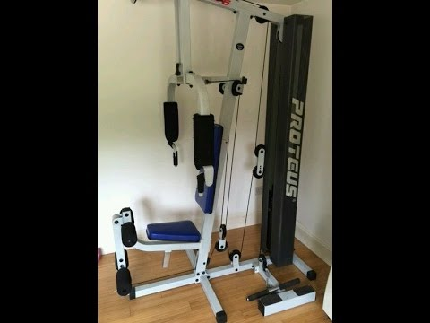 2 x multi gyms turned into cable crossover using proteus studio 5 cheap cable crossover youtube. Black Bedroom Furniture Sets. Home Design Ideas