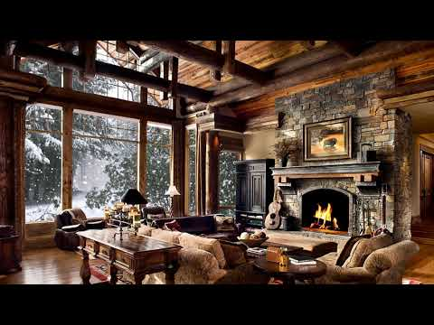 HD Winter Christmas Screensaver - Snow Falling, Fire Crackling Sound, Cosy - 2 Hours 30 Mins