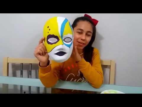 Guaj Boya Ile Maske Boyadık Mask Painting With Gouache