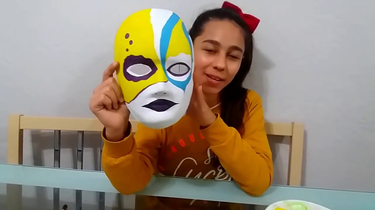 Guaj Boya Ile Maske Boyadik Mask Painting With Gouache Youtube