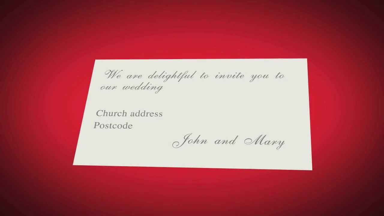 wedding invitation animation - YouTube