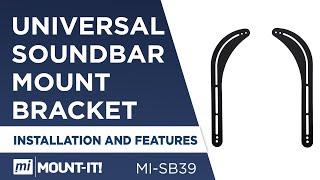 Mount-It! MI-SB39 Universal Soundbar Mount