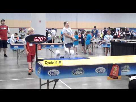 Austin Naber, Junior Olympics 2014, Cycle Gold, Scored: 6.105, 8-2-14 Des Moines, IA
