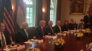 US President Trump and PM Lee attend a working lunch thumbnail