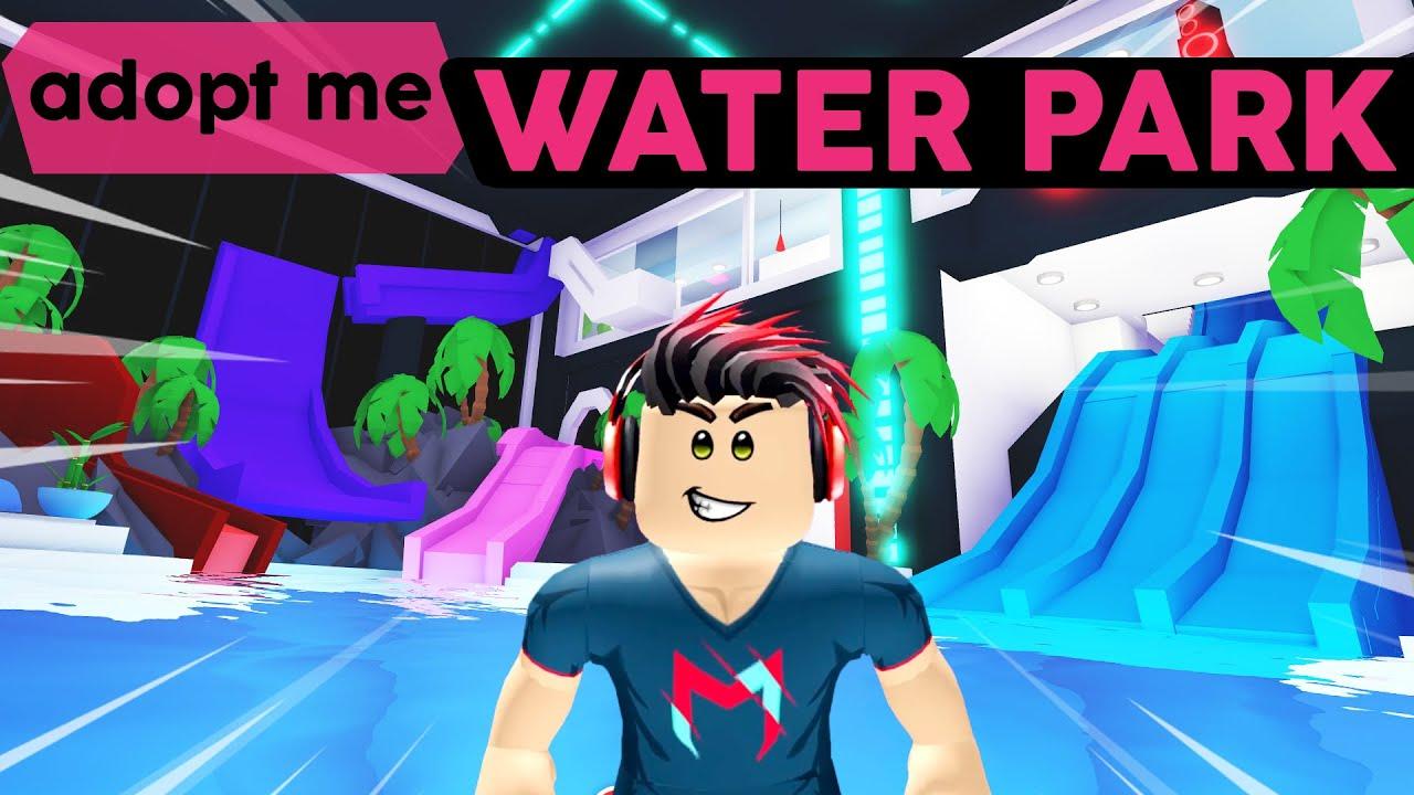 WATER PARK MANSION! Adopt Me House & Pool Tour