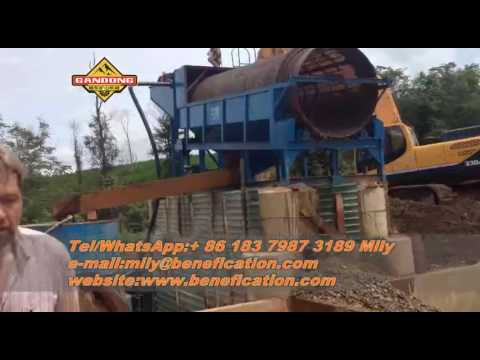 alluvial  gold wash plant in Laos by Gandong mining equipment