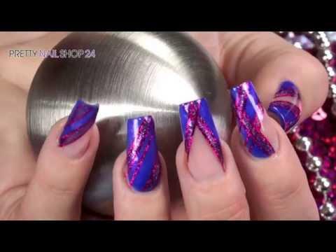 "Nailart ""Funky Stripes"" mit Nail-Art Pens & Jolifin Farbgel - YouTube"