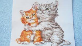 Вышивка крестиком/СП Пушистики отчет/ Счастье мое - котята от Алисы -