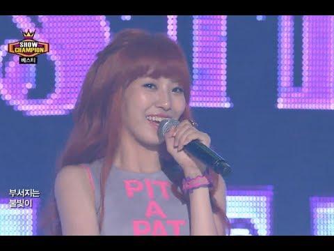 BESTie - Pit-a-pat, 베스티 - 두근두근, Show Champion 20130807