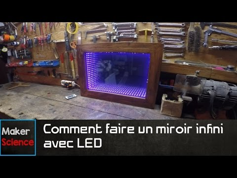 diy comment faire un miroir infini avec led youtube. Black Bedroom Furniture Sets. Home Design Ideas
