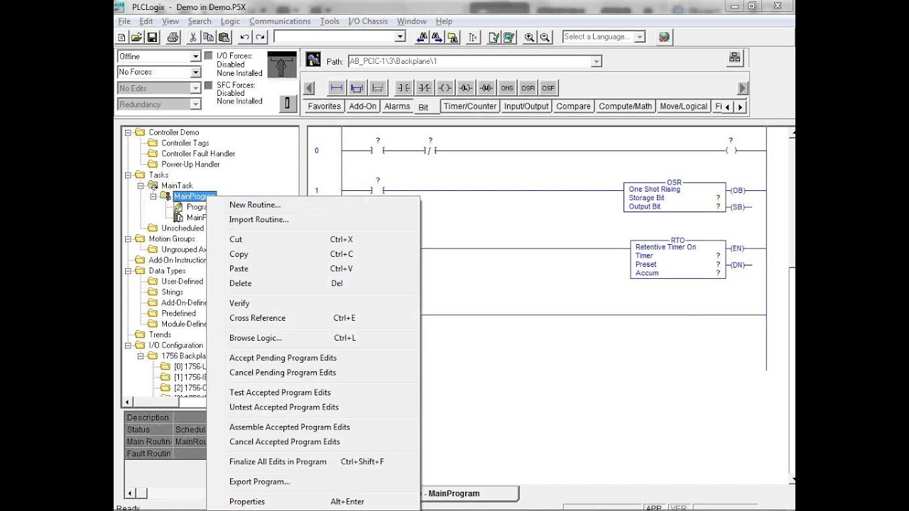 medium resolution of plclogix 5000 tutorial 1 working with ladder logic plc technician ii