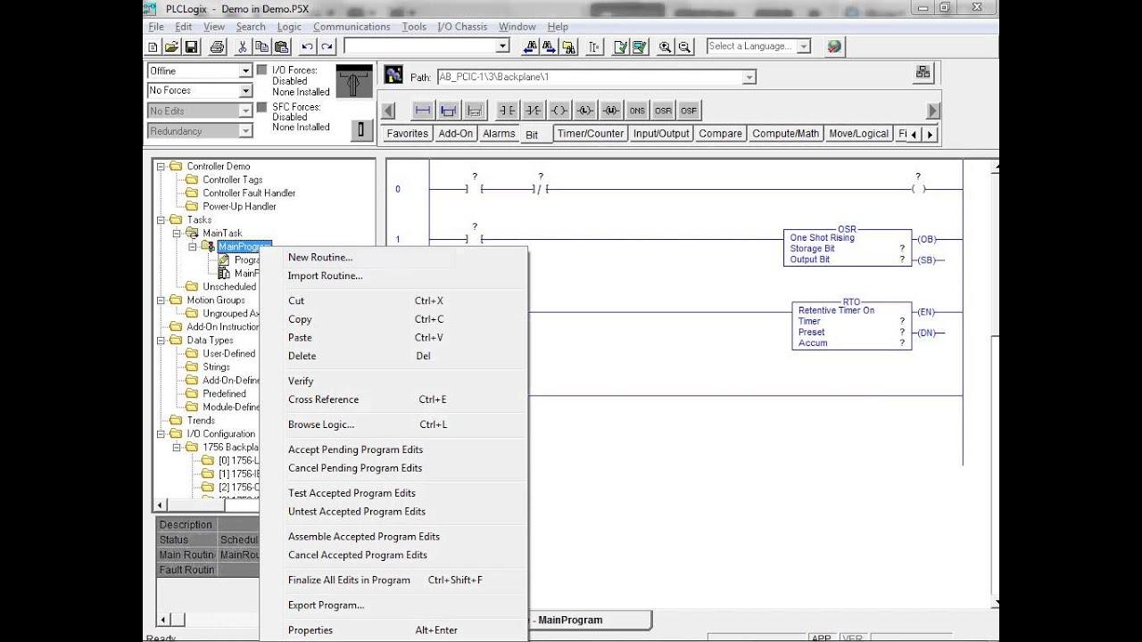 plclogix 5000 tutorial 1 working with ladder logic plc technician ii [ 1024 x 768 Pixel ]