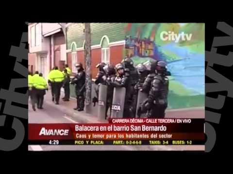 Balacera en el centro de Bogotá | Citytv |  Marzo 16