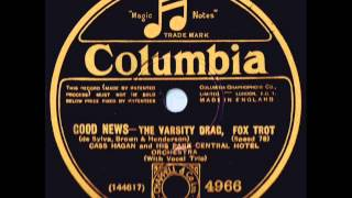 "Cass Hagan And His Park Central Hotel Orchestra ""The Varsity Drag"" Recorded 1927"
