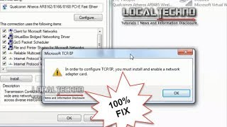 HOW TO FIX ERROR IN ORDER TO CONFIGURE TCP/IP V4 Work 100%