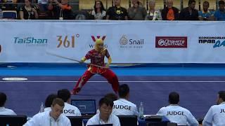 Соревнования по таолу-нангун. Выступает спортсменка из Ирана