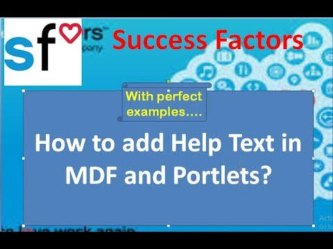 SAP SuccessFactors: Employee Central: How to populate Help Text
