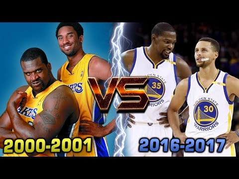 COULD THE WARRIORS BEAT THE 2000-01 LA LAKERS?? CURRY & DURANT vs KOBE & SHAQ!