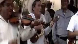 Huapangueros tocando y hechando versos en Xilitla