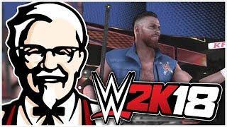 """WWE 2K18 - KFC Colonel Sanders """"HBK"""" Gameplay Showcase"""