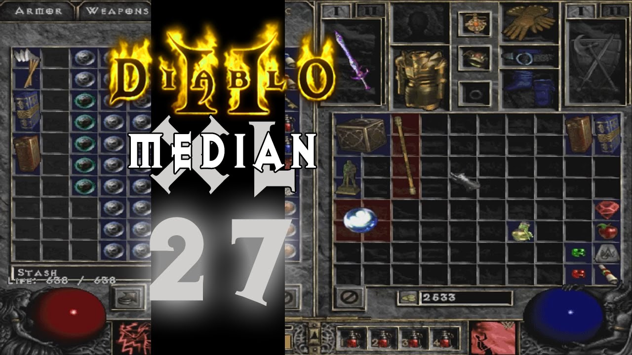 how to get rid of median xl diablo 2