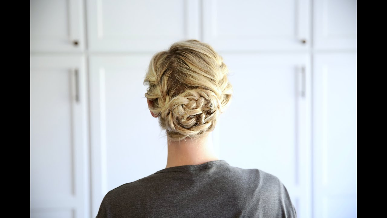 double french updo | cute girls hairstyles - youtube