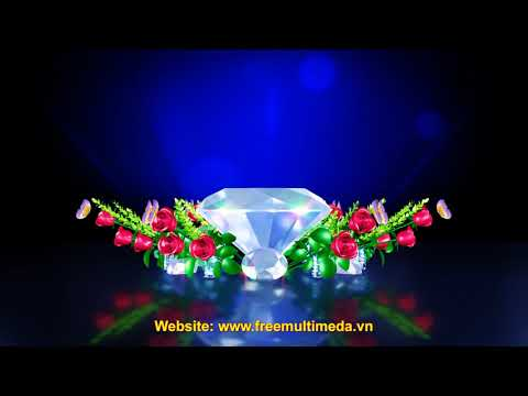 3D Diamond Rose Wedding Video Background