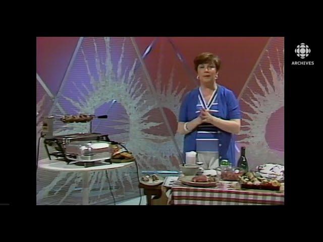 Suggestions de recettes à cuire sur le barbecue en 1977