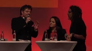 Sevim Dagdelen, Ali Resa Tolu und Sharo Garip beim Jahresauftakt der Fraktion DIE LINKE