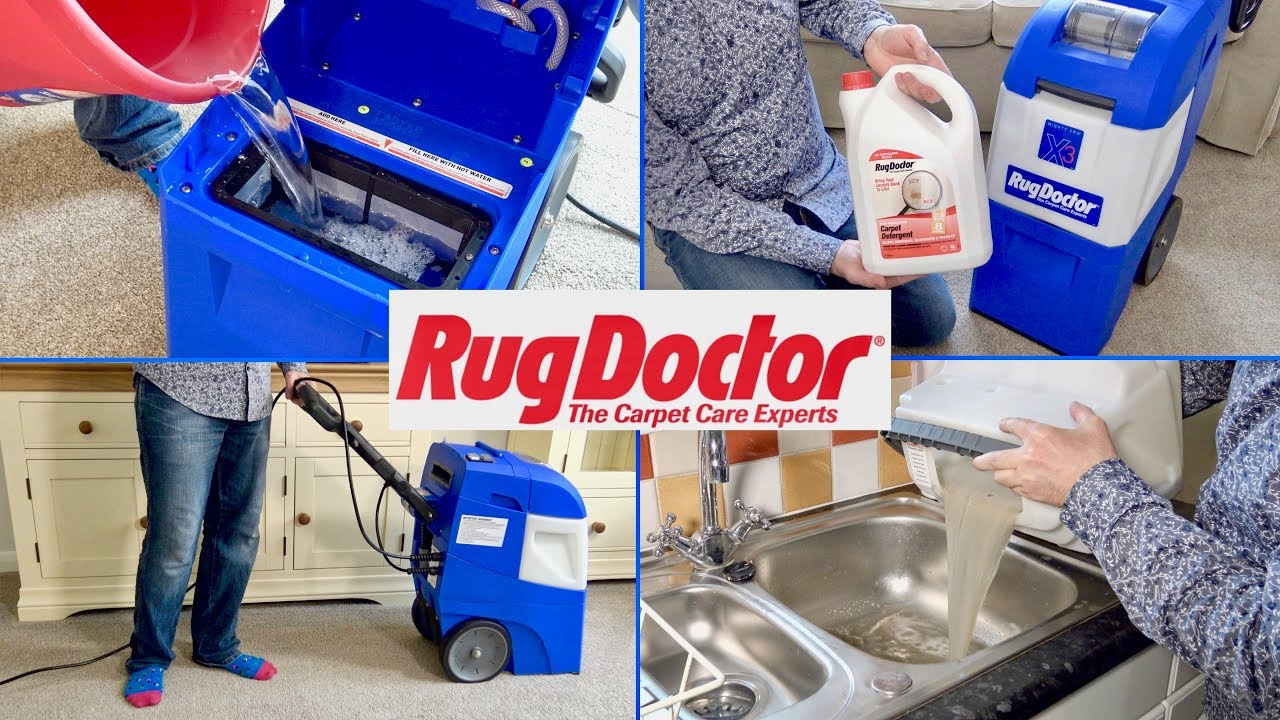 Rug Doctor Mighty Pro X3 Carpet Washer Demonstration Review