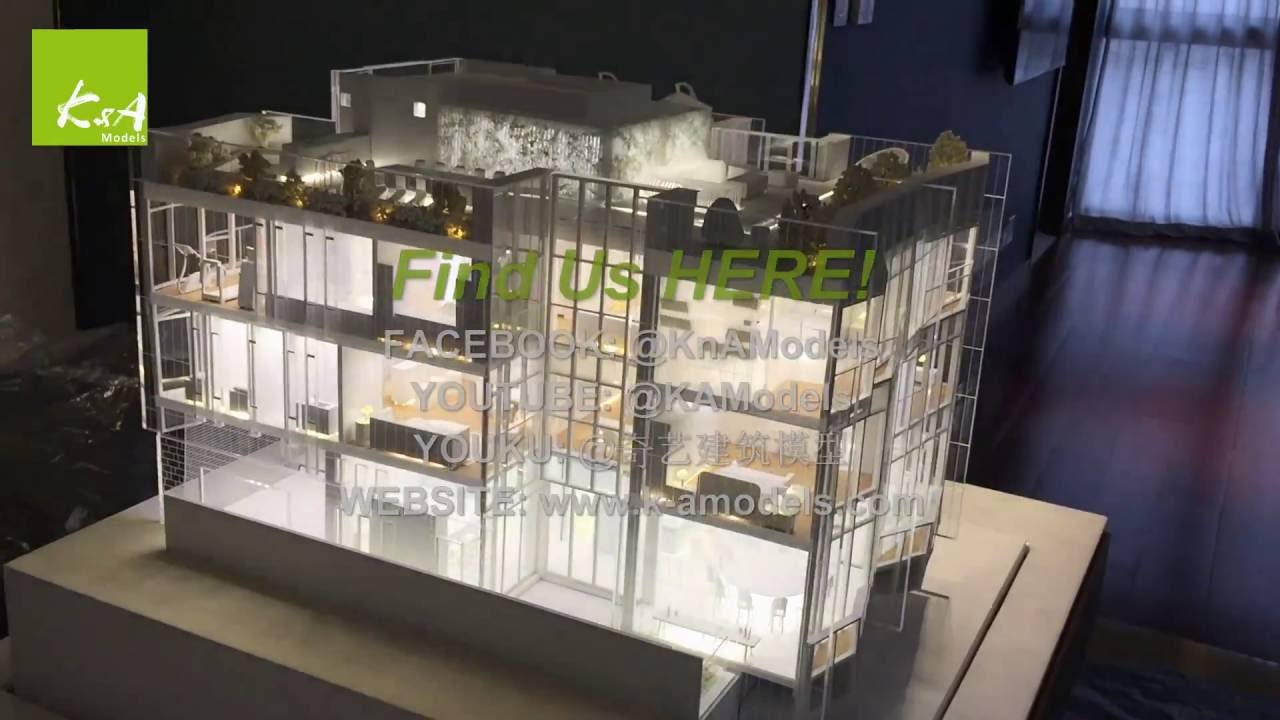 K A Models Architectural Model Hang Lung Properties 3 Storeys