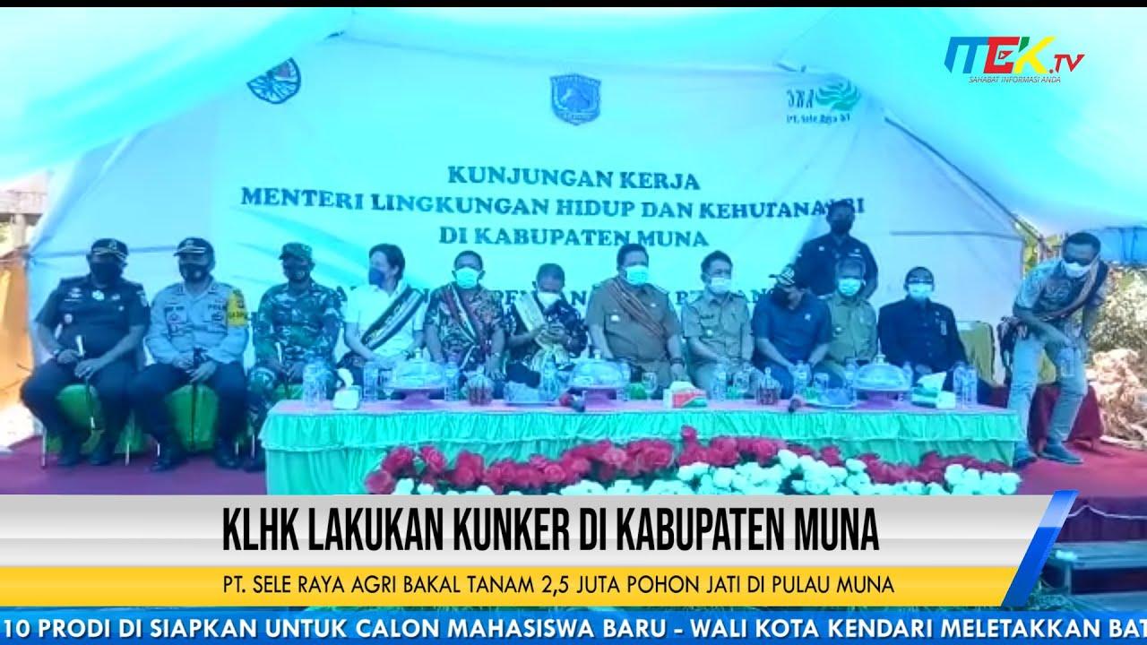 KLHK Lakukan Kunker di Kabupaten Muna, PT  Sele Raya Agri Bakal Tanam 2,5 Juta Pohon Jati di Pulau M