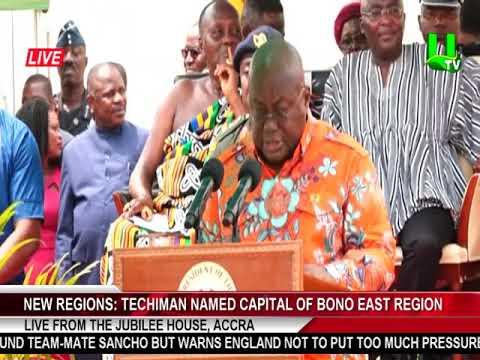 New Regions: Techiman named capital of Bono East Region