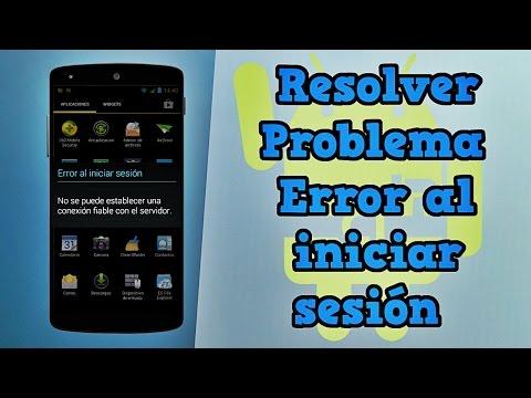 """Resolver Problema """"Error al iniciar sesión"""" con tu cuenta de Google en Android"""